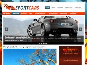 Вордпресс шаблон авто SportCars
