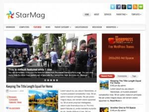 Новостной шаблон Вордпресс StarMag