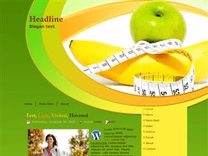 Вордпресс шаблон здоровое питание Apple-banana