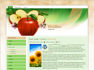 Wordpress тема здоровое питание Apple-flower