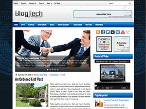 Бизнес шаблон WordPress Blogtech