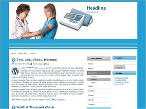 Медицинская тема WordPress Bloodpressure