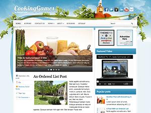 Кулинарная тема Ворд пресс CookingBlog