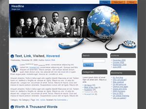 Бизнес тема Вордпресс Internet-link