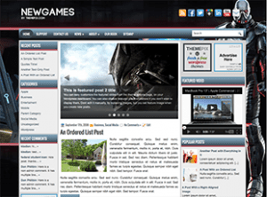 Wordpress тема игры Newgames