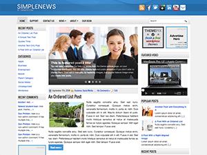 Универсальная тема Ворд пресс SimpleNews