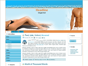 Wordpress шаблон отдых Adult-beach