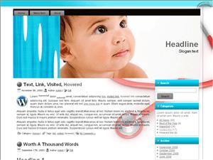 Детский шаблон Вордпресс Baby Strength