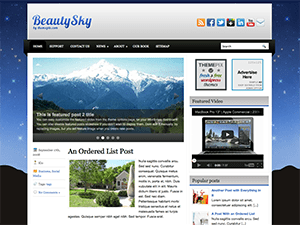 Wordpress тема слайдер BeautySky