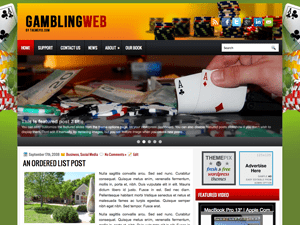 Вордпресс шаблон о покере GamblingWeb