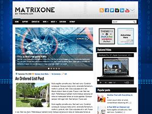 Вордпресс тема галерея MatrixOne