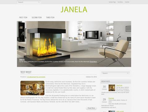 Русифицированная бесплатная премиум тема для WordPress - Janela