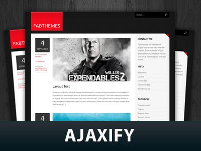 Wordpress шаблон галерея Ajaxify