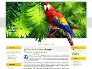 Шаблон WordPress туризм Amazon-parrot
