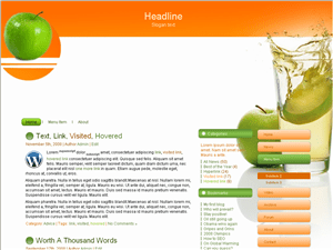 Wordpress шаблон здоровье Apple-juice