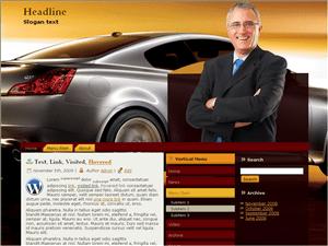 Автомобильная тема WordPress Auto-business