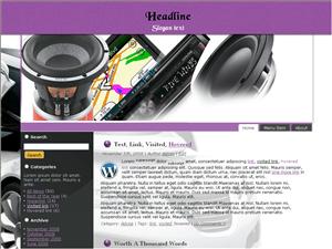 Шаблон WordPress авто Auto-equipment