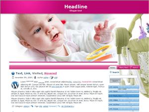 Детский шаблон Вордпресс Active-baby