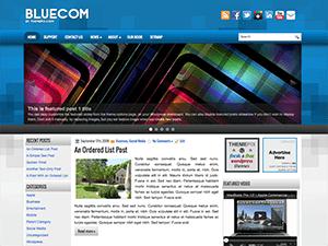 Вордпресс тема галерея BlueCom