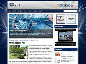 Wordpress шаблон слайдер BStyle