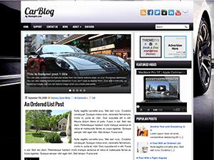 Авто тема Вордпресс CarBlog