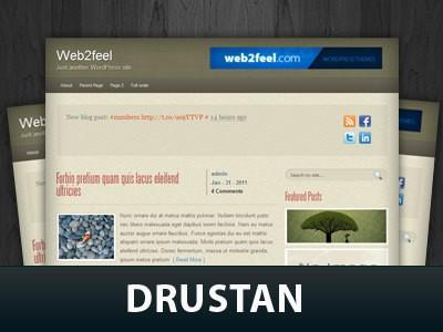 Wordpress шаблон галерея Drustan