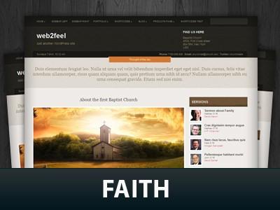 Универсальный шаблон WordPress Faith