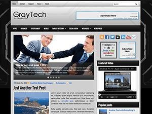 Бизнес тема Ворд пресс GrayTech