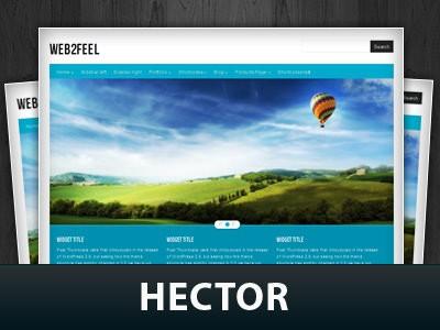 Стильный шаблон WordPress Hector