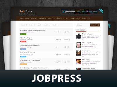 Wordpress шаблон работа Jobpress
