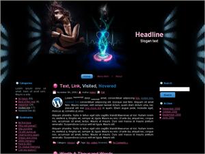 Музыкальная тема Вордпресс Laser-music-info