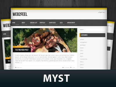 Wordpress тема виджеты Myst