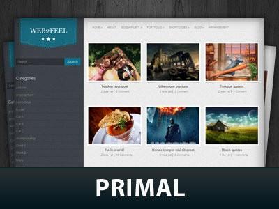Wordpress тема слайдер Primal
