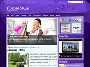 Вордпресс шаблон шоппинг PurpleStyle