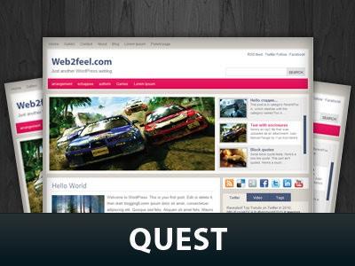 Автомобильный шаблон Вордпресс Quest