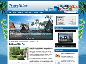 Wordpress тема туризм TravelBlue