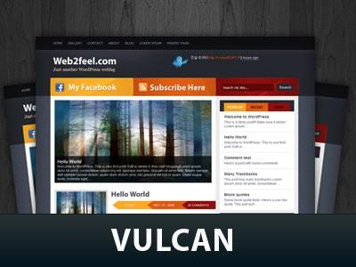 Современная тема Ворд пресс Vulcan
