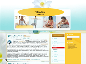 Wordpress тема йога Ashtanga-yoga