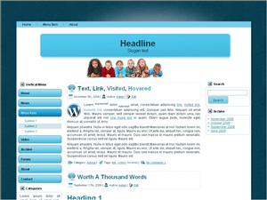 Светлый шаблон WordPress Сharity-websites