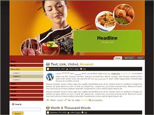 Вордпресс шаблон кулинария Chinese-food