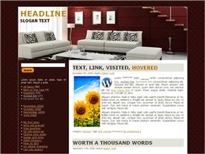 Wordpress тема интерьер Contemporary-arch