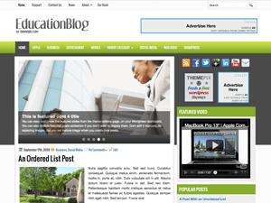 Вордпресс шаблон бизнес EducationBlog