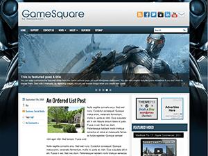 Вордпресс шаблон игры GameSquare