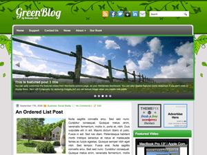 Универсальный шаблон WordPress GreenBlog