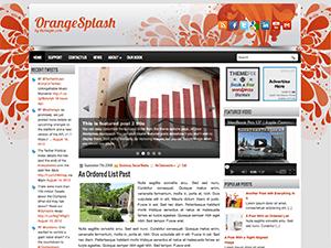 Яркий Вордпресс шаблон OrangeSplash