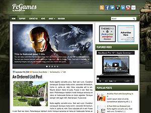 Wordpress шаблон игры PcGames