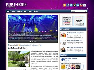 Универсальная тема Вордпресс PurpleDesign