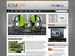 Музыкальная тема WordPress StyleLine