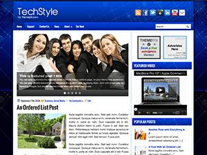 Бизнес тема для WordPress TechStyle