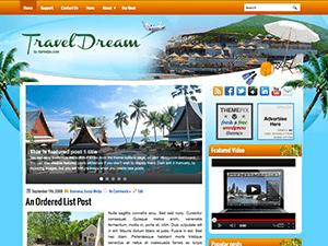 Вордпресс тема туризм TravelDream